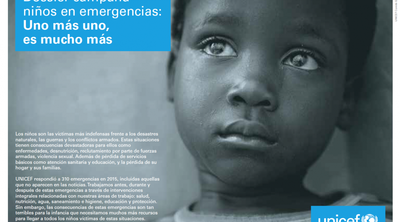 Il Sentimento graba con UNICEF. UNO MÁS UNO